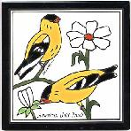 American Gold Finch Tile,American Gold Finch Wall Plaque,American Gold Finch Trivet