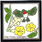 Hummingbird Tile,Hummingbird Wall Plaque,Hummingbird Trivet