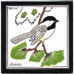 Chickadee Tile,Chickadee Wall Plaque,Chickadee Trivet