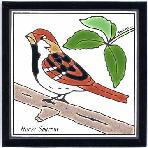 Song Sparrow Tile,Song Sparrow Wall Plaque,Song Sparrow Trivet