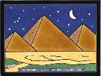 "EG-684 The Pyramids of Giza Tile 6"" x 8"" Hand Painted by Besheer Art Tile"