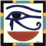 The Eye of Horus Hand Painted Egyptian Art Tile