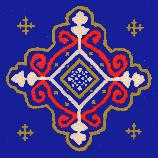 The motif for this hand painted tile was adapted from the Carpet that is installed throughout the Senate Chamber. The blue and maroon pattern is base on tradition wall paper styles favored in the 19th Century. These can be used for a kitchen backsplash, countertop tile, fireplace tile, or in a bathroom, for a stunning addition to your home. They can also be ordered with our secure hanger and backing for use as Wall Plaques or Trivets.