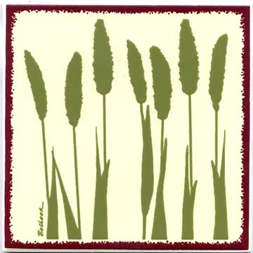 Foxtail Millet as a tile, trivet, or wall plaque. Can be used in a kitchen backsplash or bathroo
